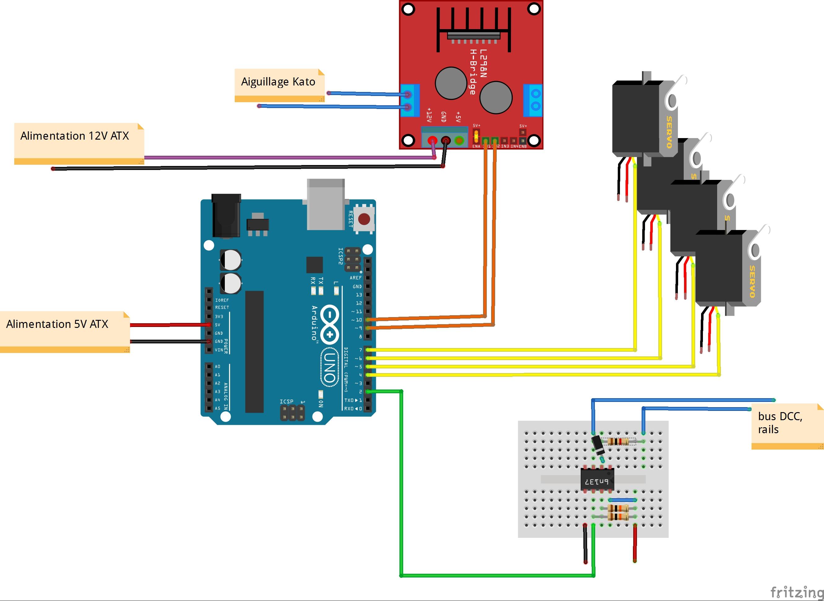 Décodeur d'accessoires avec un Arduino, partie 5